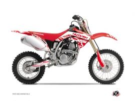 Kit Déco Moto Cross Eraser Honda 125 CR Blanc Rouge