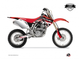 Kit Déco Moto Cross Eraser Honda 125 CR Rouge - Blanc LIGHT