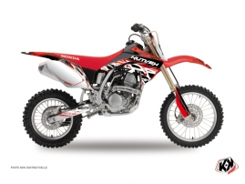 Kit Déco Moto Cross Eraser Honda 125 CR Rouge Blanc