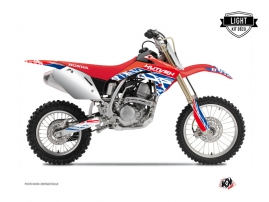 Kit Déco Moto Cross Eraser Honda 125 CR Rouge - Bleu LIGHT