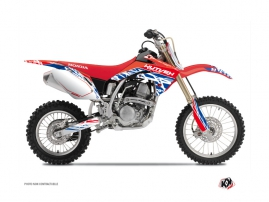 Kit Déco Moto Cross Eraser Honda 125 CR Rouge - Bleu