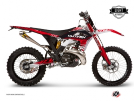 Kit Déco Moto Cross Eraser Gasgas 125 EC Rouge - Blanc LIGHT