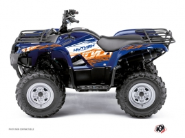 Yamaha 125 Grizzly ATV Eraser Graphic Kit Blue Orange