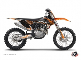 Kit Déco Moto Cross Eraser KTM 125 SX Orange Noir
