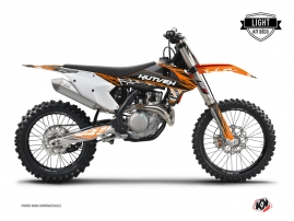KTM 125 SX Dirt Bike ERASER Graphic kit Orange Black LIGHT