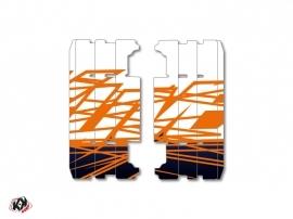 Kit Déco Grilles de radiateur Eraser Yamaha 125 YZ 2015-2016 Bleu Orange