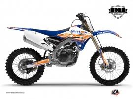 Kit Déco Moto Cross Eraser Yamaha 250 YZF Bleu - Orange LIGHT