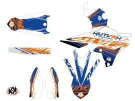 Kit Déco Moto Cross Eraser Yamaha 250 YZF Bleu Orange LIGHT