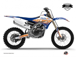 Kit Déco Moto Cross Eraser Yamaha 450 YZF Bleu Orange LIGHT