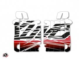 Kit Déco Grilles de radiateur Eraser Honda 250 CRF 2014-2016 Rouge Blanc