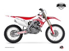 Kit Déco Moto Cross Eraser Honda 250 CRF Blanc Rouge LIGHT