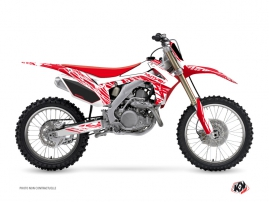 Kit Déco Moto Cross Eraser Honda 250 CRF Blanc Rouge