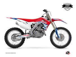 Kit Déco Moto Cross Eraser Honda 250 CRF Rouge Bleu LIGHT