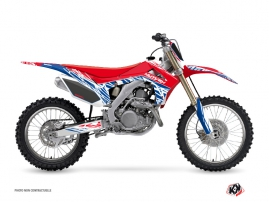 Kit Déco Moto Cross Eraser Honda 250 CRF Rouge Bleu