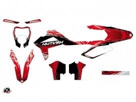 GASGAS 250 ECF Dirt Bike Eraser Graphic Kit Red White