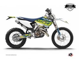 Kit Déco Moto Cross Eraser Husqvarna 250 FE Jaune - Bleu LIGHT