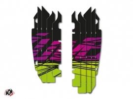 Kit Déco Grilles de radiateur Eraser Kawasaki 250 KXF 2013-2016 Vert