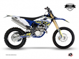 Kit Déco Moto Cross Eraser Sherco 250 SEF R Blanc Jaune LIGHT