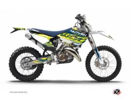 Kit Déco Moto Cross Eraser Husqvarna 250 TE Jaune - Bleu