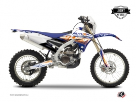 Kit Déco Moto Cross Eraser Yamaha 250 WRF Bleu Orange LIGHT
