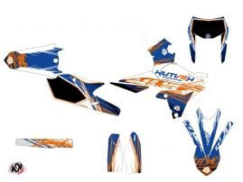 Kit Déco Moto Cross Eraser Yamaha 250 WRF Bleu Orange