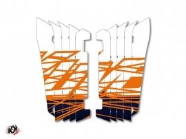 Kit Déco Grilles de radiateur Eraser Yamaha 250 YZF 2014-2016 Bleu Orange
