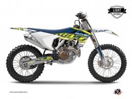 Kit Déco Moto Cross Eraser Husqvarna FC 350 Jaune - Bleu LIGHT