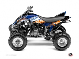 Yamaha 350 Raptor ATV Eraser Graphic Kit Blue Orange