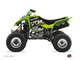 Kawasaki 400 KFX ATV Eraser Graphic Kit Green Black