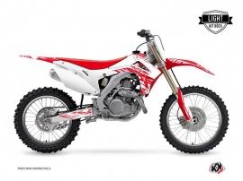 Kit Déco Moto Cross Eraser Honda 450 CRF Blanc Rouge LIGHT