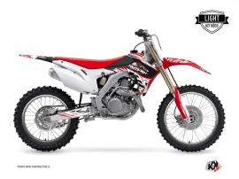 Kit Déco Moto Cross Eraser Honda 450 CRF Rouge Blanc LIGHT