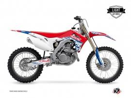 Kit Déco Moto Cross Eraser Honda 450 CRF Rouge Bleu LIGHT