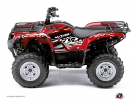 Yamaha 450 Grizzly ATV Eraser Graphic Kit Red White