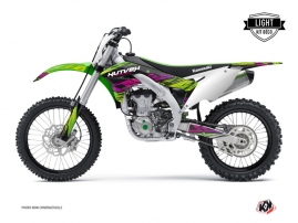 Kit Déco Moto Cross Eraser Kawasaki 450 KXF Vert LIGHT