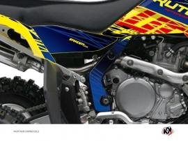 Kit Déco Protection de cadre Quad Eraser Suzuki 450 LTR Bleu Jaune