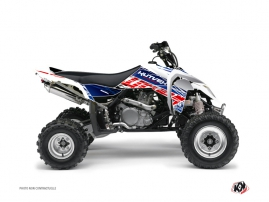 Suzuki 450 LTR ATV Eraser Graphic Kit Blue Red