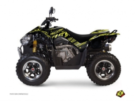 Kymco 450 MAXXER ATV Eraser Graphic Kit Neon Grey