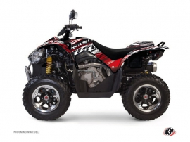 Kymco 450 MAXXER ATV Eraser Graphic Kit Red White