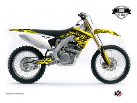 Suzuki 450 RMZ Dirt Bike Eraser Graphic Kit Yellow Black LIGHT