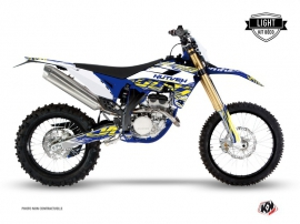 Kit Déco Moto Cross Eraser Sherco 450 SEF R Blanc Jaune LIGHT