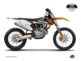 Kit Déco Moto Cross Eraser KTM 450 SXF Bleu Orange LIGHT