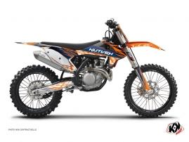 Kit Déco Moto Cross Eraser KTM 450 SXF Bleu - Orange