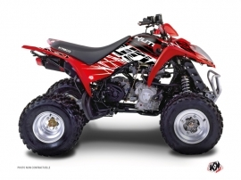 Kymco 90 MAXXER ATV Eraser Graphic Kit Red White