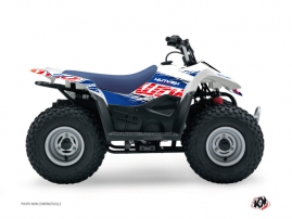 Suzuki 50 LT ATV Eraser Graphic Kit Blue Red