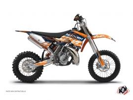 KTM 50 SX Dirt Bike ERASER Graphic kit Blue Orange