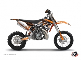 Kit Déco Moto Cross Eraser KTM 50 SX Orange Noir