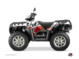 Polaris 500-800 Sportsman Forest ATV Eraser Graphic Kit Red White