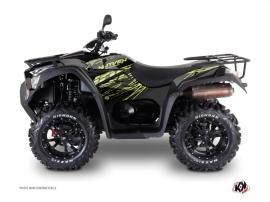 Kymco 700 MXU ATV Eraser Graphic Kit Neon Grey