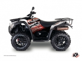 Kymco 700 MXU ATV Eraser Graphic Kit Red White