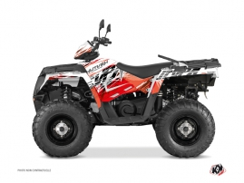 Kit Déco Quad Eraser Polaris 570 Sportsman Forest Rouge Blanc